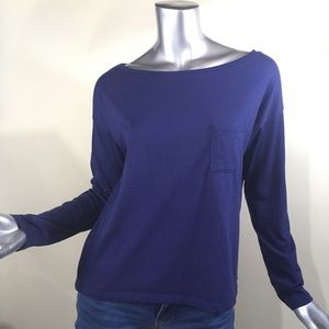 Fabletics Tee T Shirt Oversized Top Blue Size XS